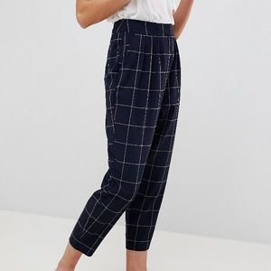ASOS grid check tailored checkered pants